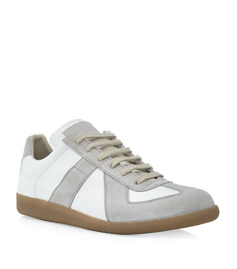 sneaker replica maison margiela replica low top sneaker in white for