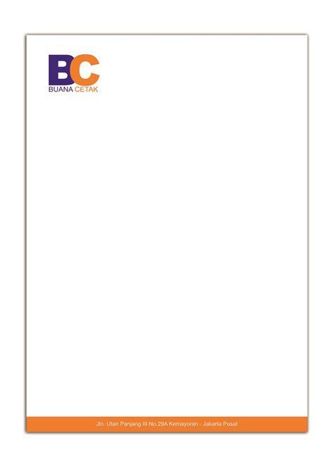 Cetak Kop Surat 1 Warna Hvs 7080gr 1 One Day Service cetak kop surat buanacetak cetak brosur cetak