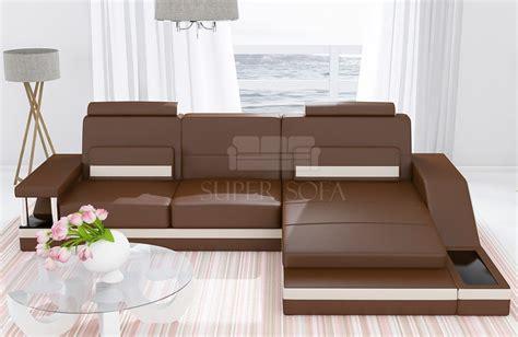 divano l divano in pelle mini a forma di l nativo