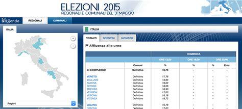 ministero degli interni elezioni regionali elezioni 2015 affluenza ai seggi alle ore 12 ministero