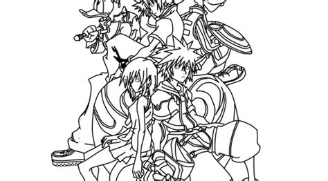 free coloring pages kingdom hearts kingdom of hearts colouring pages page 2