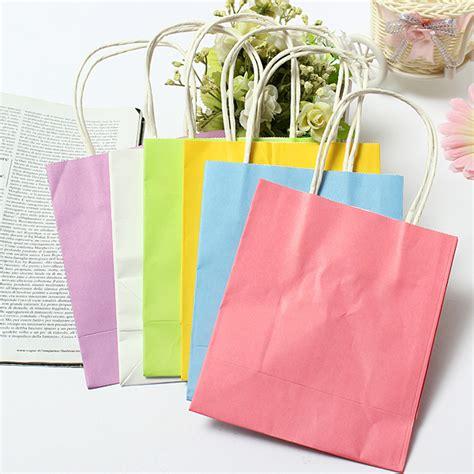 colorful bags colorful kraft paper gift bag wedding handle paper