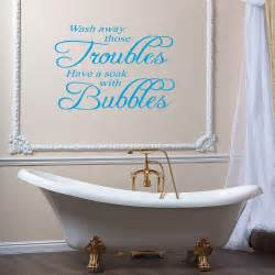 bathroom wall decor design ideas karenpressley pics photos bathe art sticker quote bubbles toilet