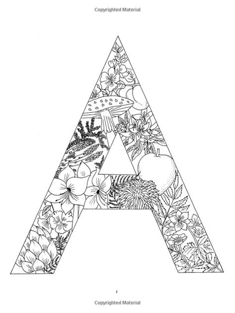 alphabet coloring pages advanced floral alphabet coloring adult coloring pages