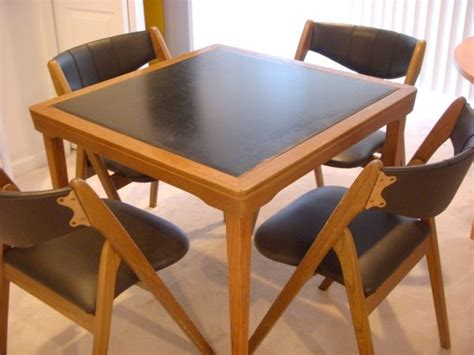 wooden card table and chairs set boston solid wood card table and four side chairs 195