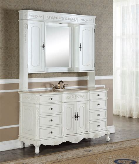 Antique White Bathroom Vanities by 60 Quot Kensington Antique White Bathroom Vanity Antique