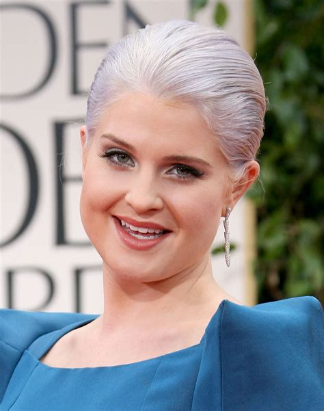 gray hair in your 30s cele bitchy kelly osbourne tried gray hair because when