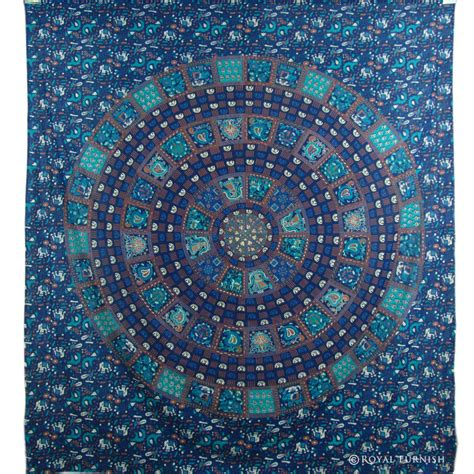 Brocade Home Decor by Blue Mandala Hippie Wall Hanging Indian Tapestry Throw