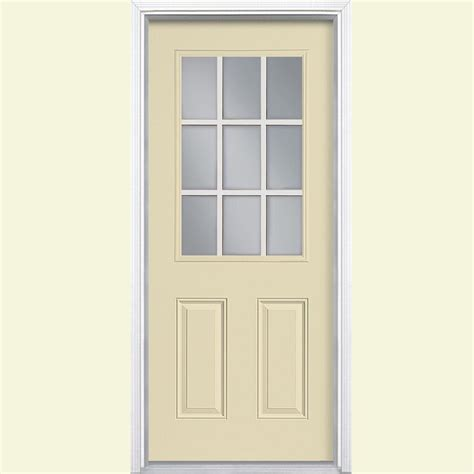 Masonite Doors Exterior Masonite 36 In X 80 In Cheyenne 2 Panel Painted Smooth Fiberglass Prehung Front Door With No