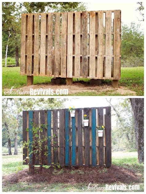 Pallet Garden Wall Phase Ii Decorating Southern Revivals Pallet Garden Wall