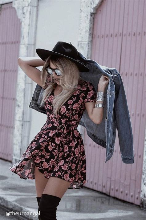 womens outfits summer on pinterest 12 floral dress outfits to transition from summer to fall