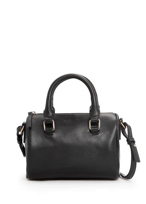Mango Bowling Bag S lyst mango small bowling bag in black
