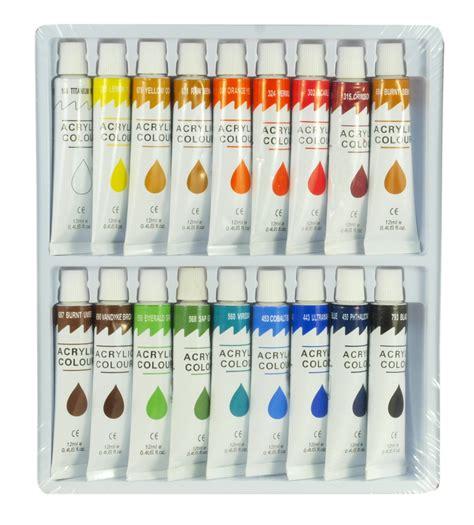 acrylic paint and canvas set 18 color acrylic paint set 12 ml artist draw