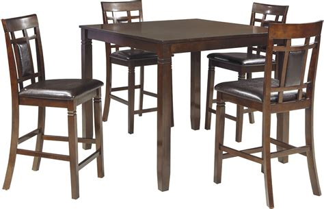 counter height dining room bennox brown 5 piece counter height dining room set from