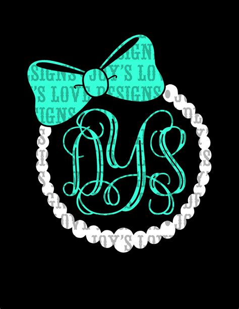 Jewelrys Silhouette Circle To Remind You Of Whats Important by Pearl And Bow Monogram Frame Svg And Dxf Digital