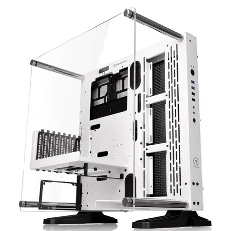 Casing Thermaltake P3 Black thermaltake p3 snow edition atx mid tower wall mount ca 1g4 00m6wn 00 mwave au