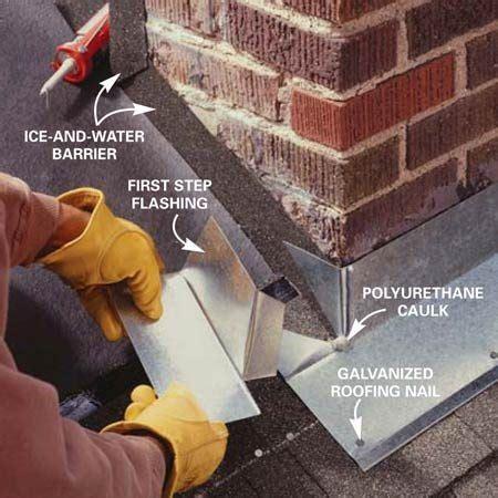 installing chimney flashing  family handyman