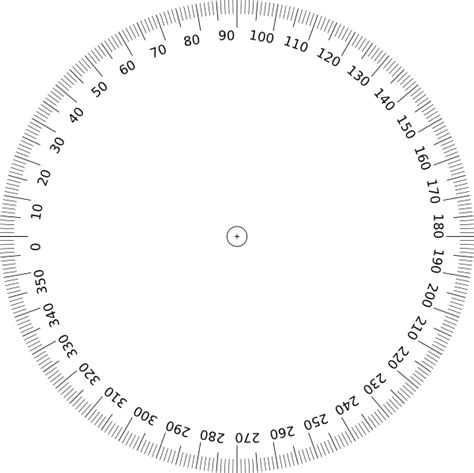 circle protractor template printable protractor 360 template clipart best