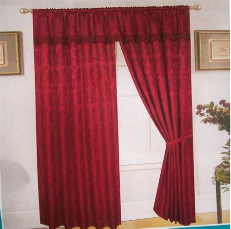 maroon curtains other curtains blinds maroon jacquard curtains 3
