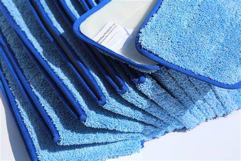 Kain Micro Fiber microfiber commercial mop pads w velcro back 50in fits 48in mop holder 25ea bulk
