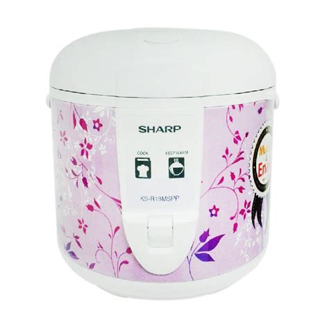 Rice Cooker Sharp Ks R18ms Pk jual sharp ks r18ms pp rice cooker purple 1 8 l harga kualitas terjamin blibli
