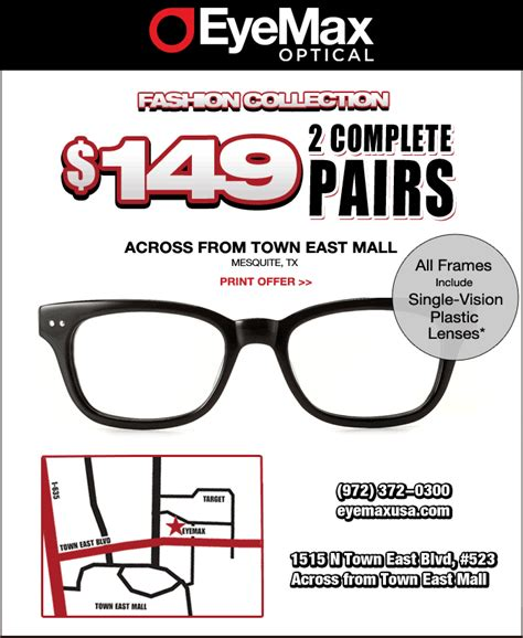 printable coupon for 2 complete pairs of eyeglasses for
