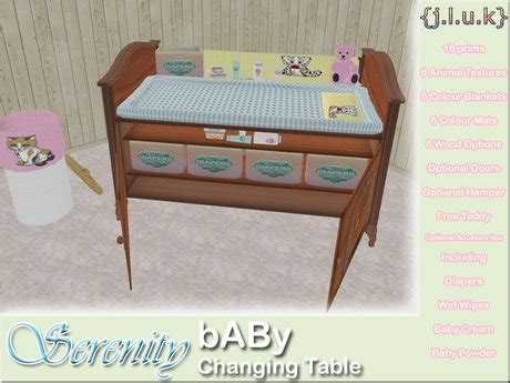 second changing table second marketplace j l u k serenity baby changing