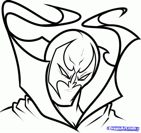 easy drawing how to draw spawn easy step by step comic book