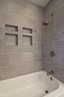 gray tile horizontal contemporary bathroom columbus