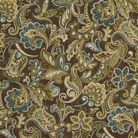 blue green upholstery fabric c422 green blue brown floral outdoor indoor upholstery