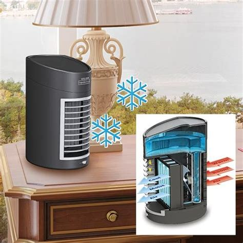 kool down evaporative cooler dc adapter evaporator portable desktop office air conditioner 2 speed