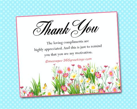 Thank You For Your Help Card Messages how to say thank you for a compliment 365greetings