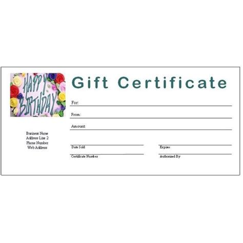 gift certificate template free fill in free printable