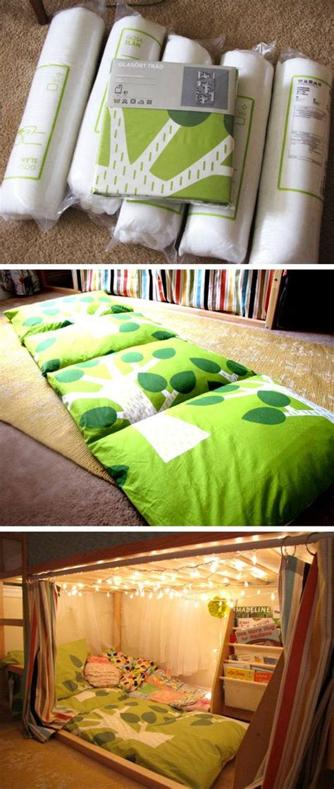 kissen matratze kissen matratze unterm hochbett kuschelecke mit