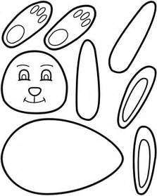 easter bunny craft template easter bunny paper craft black and white template
