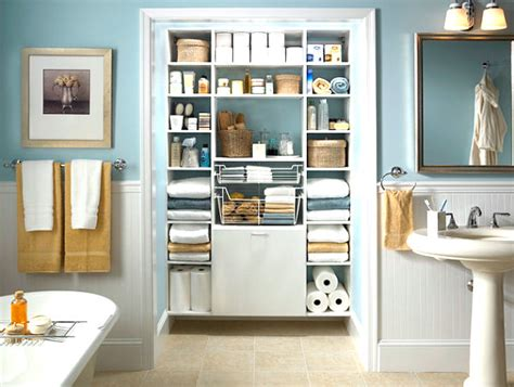 bathroom closet shelving ideas cool bathroom storage ideas