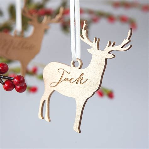 Reindeer Decoration by Personalised Reindeer Decoration By Clouds And