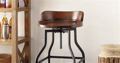 High Chair For Kitchen Counter by Details About Industrial Wood Adjustable Seat Barstool