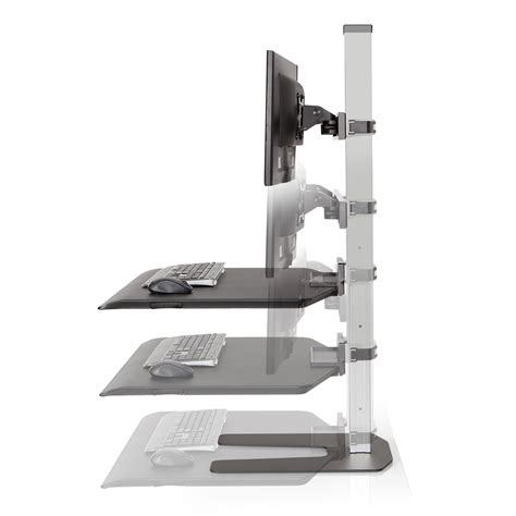 Desk Add Ons by Height Adjustable Table Stand Up Workstation Sit Stand