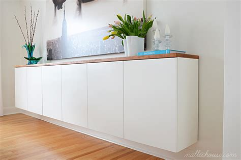 Adding Kitchen Cabinets floating sideboard diy remodelaholic