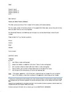 Exle Of Rent Increase Letter Uk Rent Increase Letter Template For Ms Word Document Hub