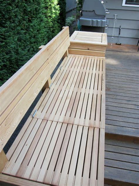 built outdoor bench  storage interior designs