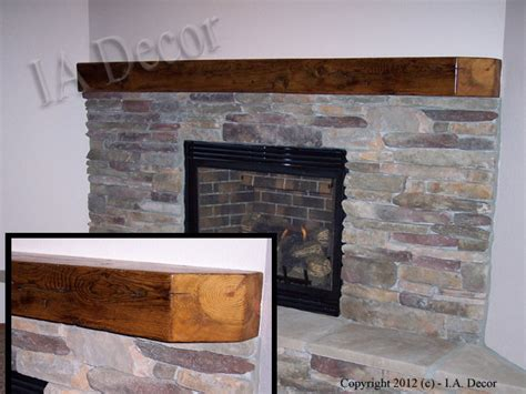 reclaimed wood fireplace mantle custom mantles beam mantles