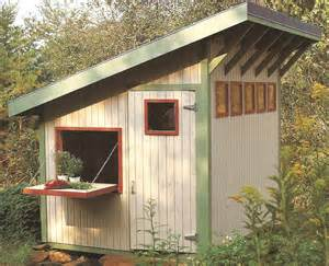 potting shed in the garden