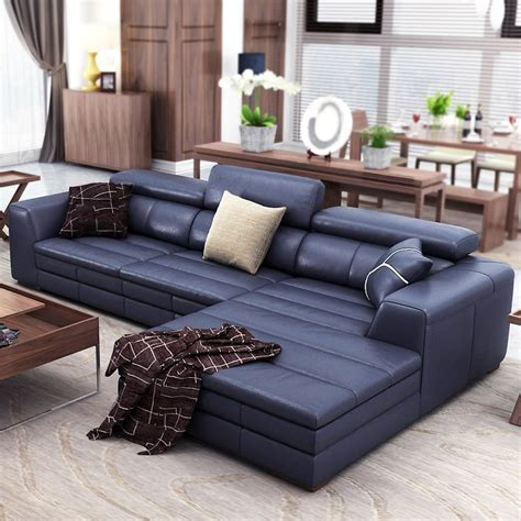 Real Leather Sectional Sofa by Top Genuine Real Leather Sofa Sectional Living Room Sofa