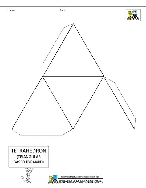 three dimensional shapes templates 3d geometric shapes nets