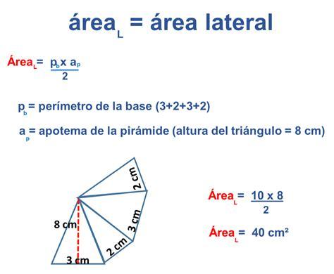 pirámide de base cuadrada f 243 rmula para hallar el 225 rea total de una pir 225 mide