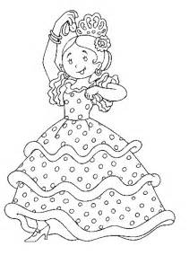 Flamenco Dancers Colouring Pages sketch template