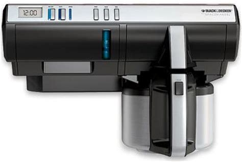 I think this spacesaver black and decker coffee maker is better than any espresso machine