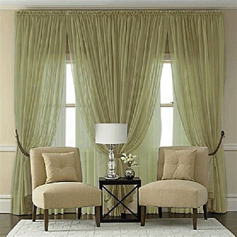 olive green sheer curtains splendor semi sheer batiste rod pocket panel in olive green